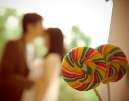 Behind the lollipop