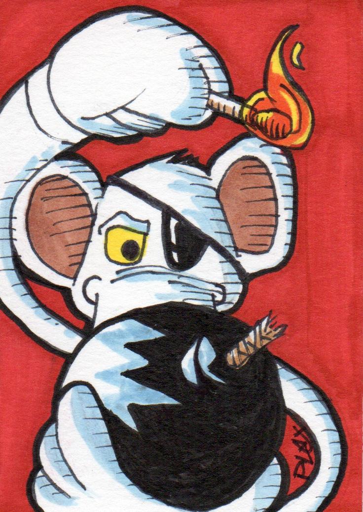 Danger Mouse (sketch card fan art) by MarshallPlex