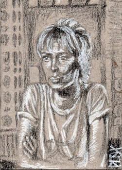 Beatrix Kiddo from Kill Bill ACEO Sketch Card