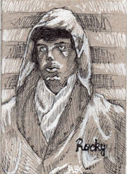 Rocky Balboa ACEO Sketch Card by MarshallPlex
