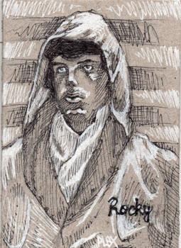 Rocky Balboa ACEO Sketch Card