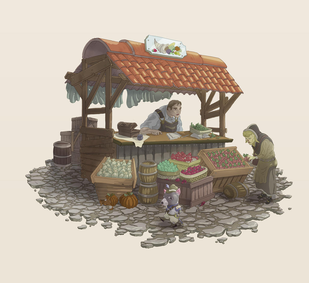 Fruit Stand by Joudrey