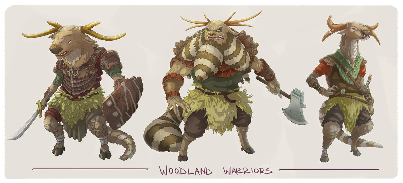 Woodland Character Concepts by Joudrey