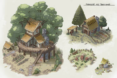 Isometric Farm House by Joudrey