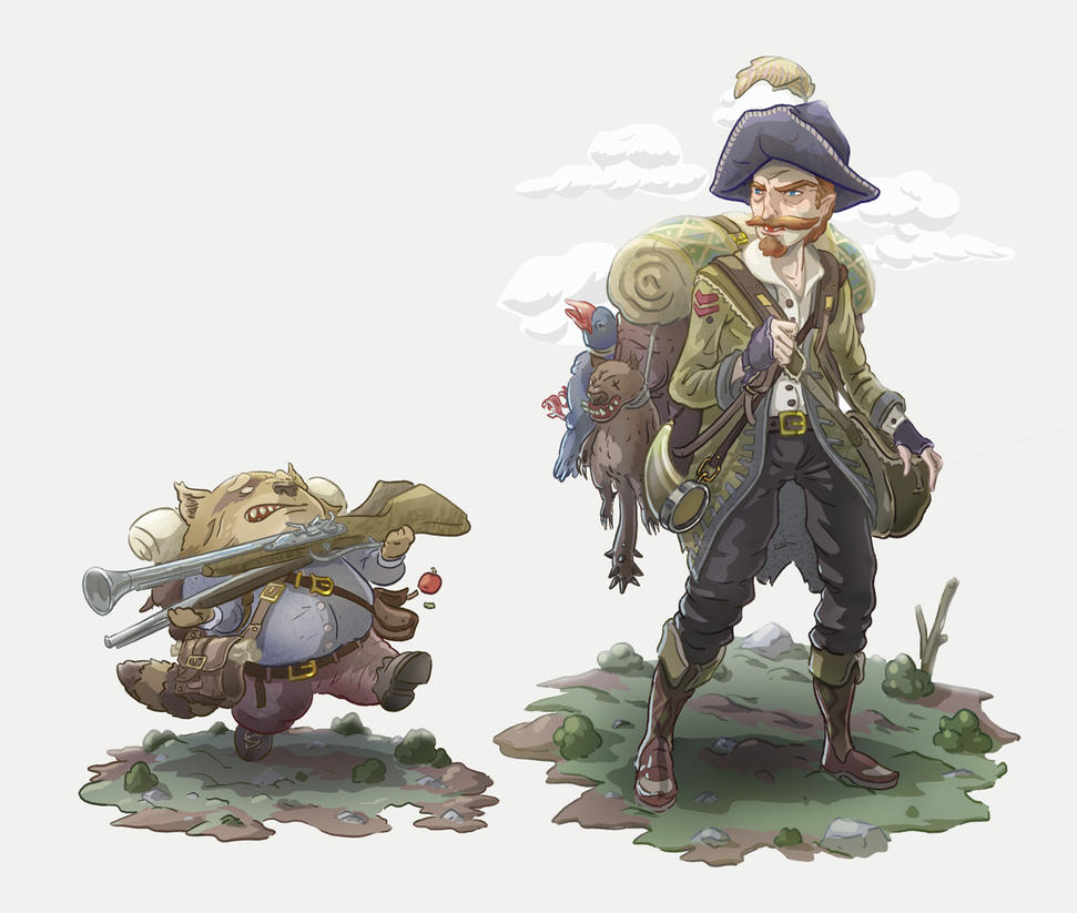 Woodland Hunter and Sidekick by Joudrey