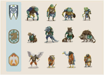 Woodlands Character Roughs