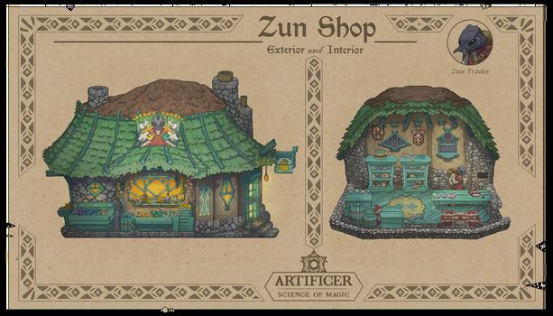 Zun Shop - Interior and Exterior