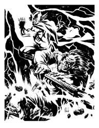 Thor vs Kalibak by ronsalas