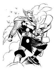 Wieringo Thor Inks by ronsalas