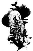 Mignola Batman Hellboy inks by ronsalas