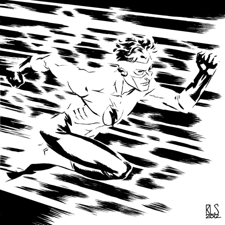 Kid Flash - 6x6 by ronsalas