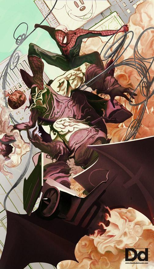 Spidey vs Goblin by deadlymike