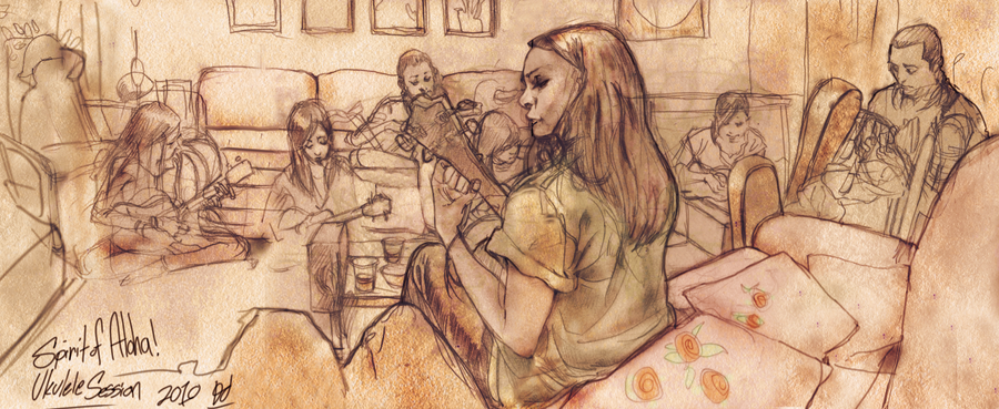 Ukulele Sketch by deadlymike