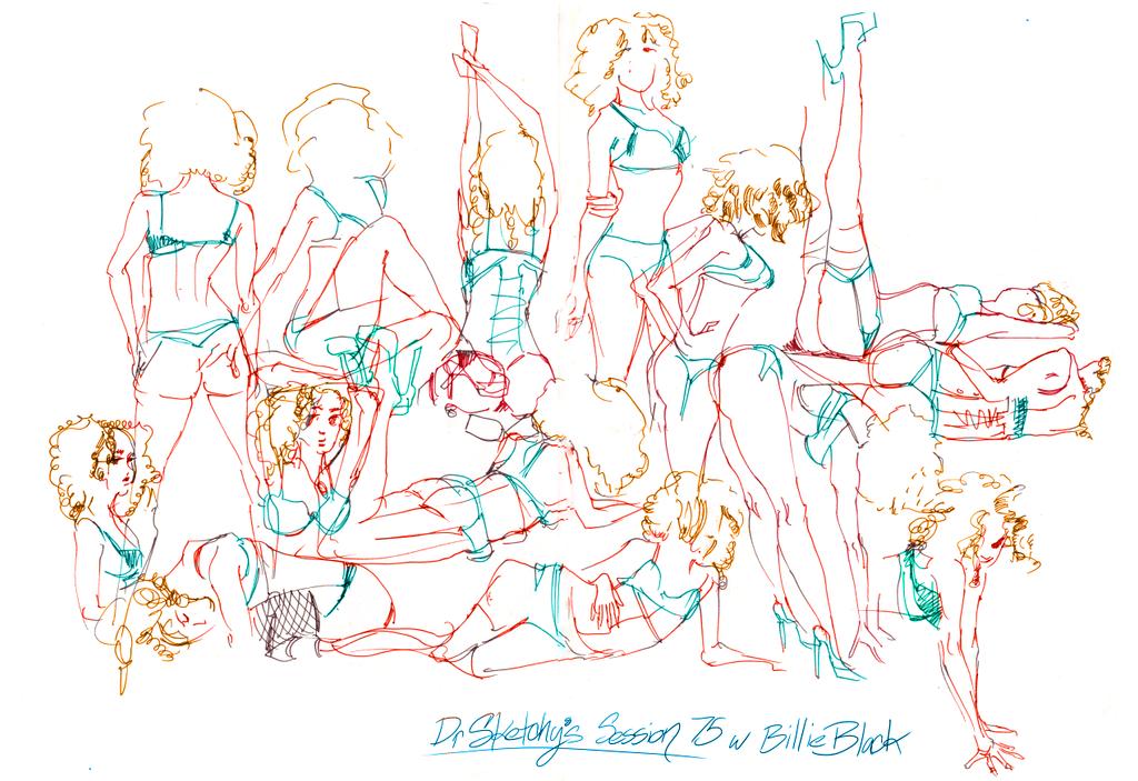 Dr Sketchy's 75 Billie Black by deadlymike