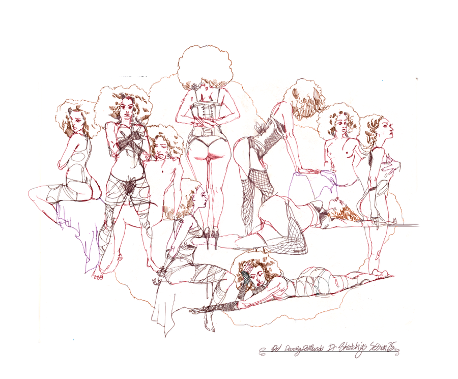 Dr Sketchy's 75 Billie Black 2 by deadlymike
