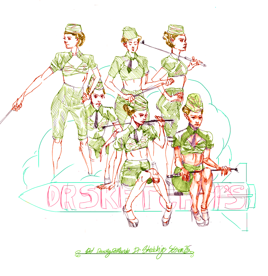 Dr Sketchy's 75 Billie Black 3 by deadlymike