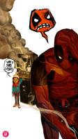 Deadpool the Poor Sport by deadlymike