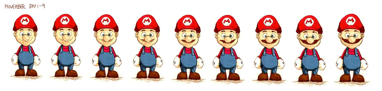 Mario goes Movember Progress by deadlymike