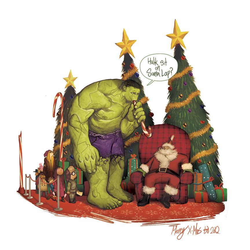 Hulk Sit on Santa by deadlymike