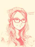 Pink Beanie Glasses by bbiru