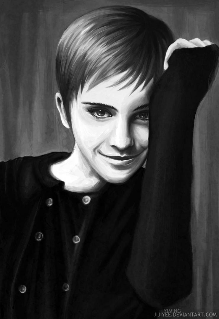 Emma Watson portrait by Jijiyee