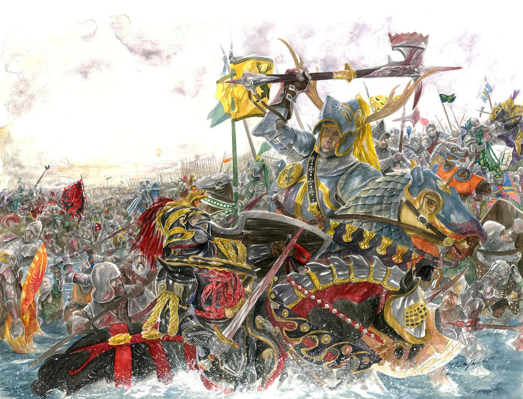 The Battle of the Trident by AbePapakhian