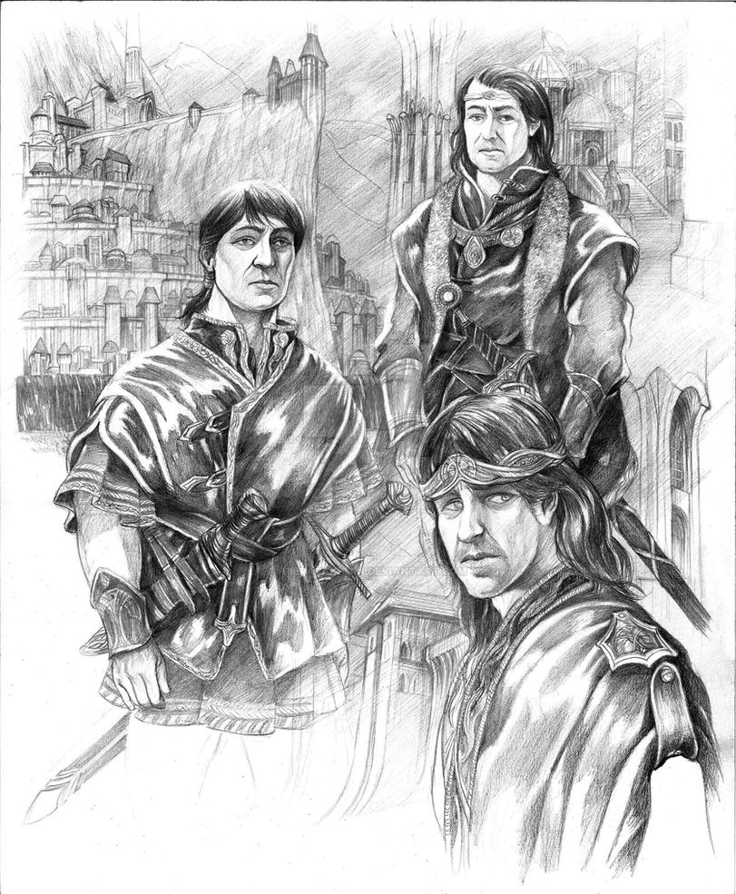 Elendil and his Sons by AbePapakhian