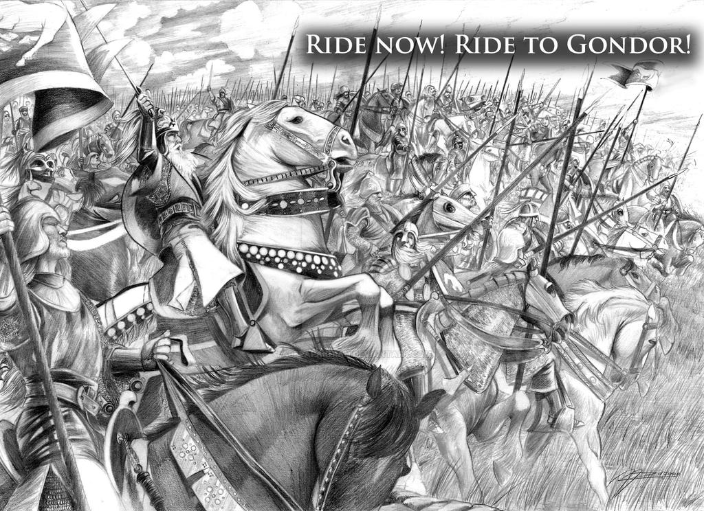 Ride to Gondor by AbePapakhian