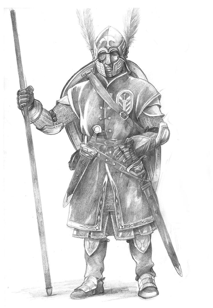 Soldier of Gondor by AbePapakhian