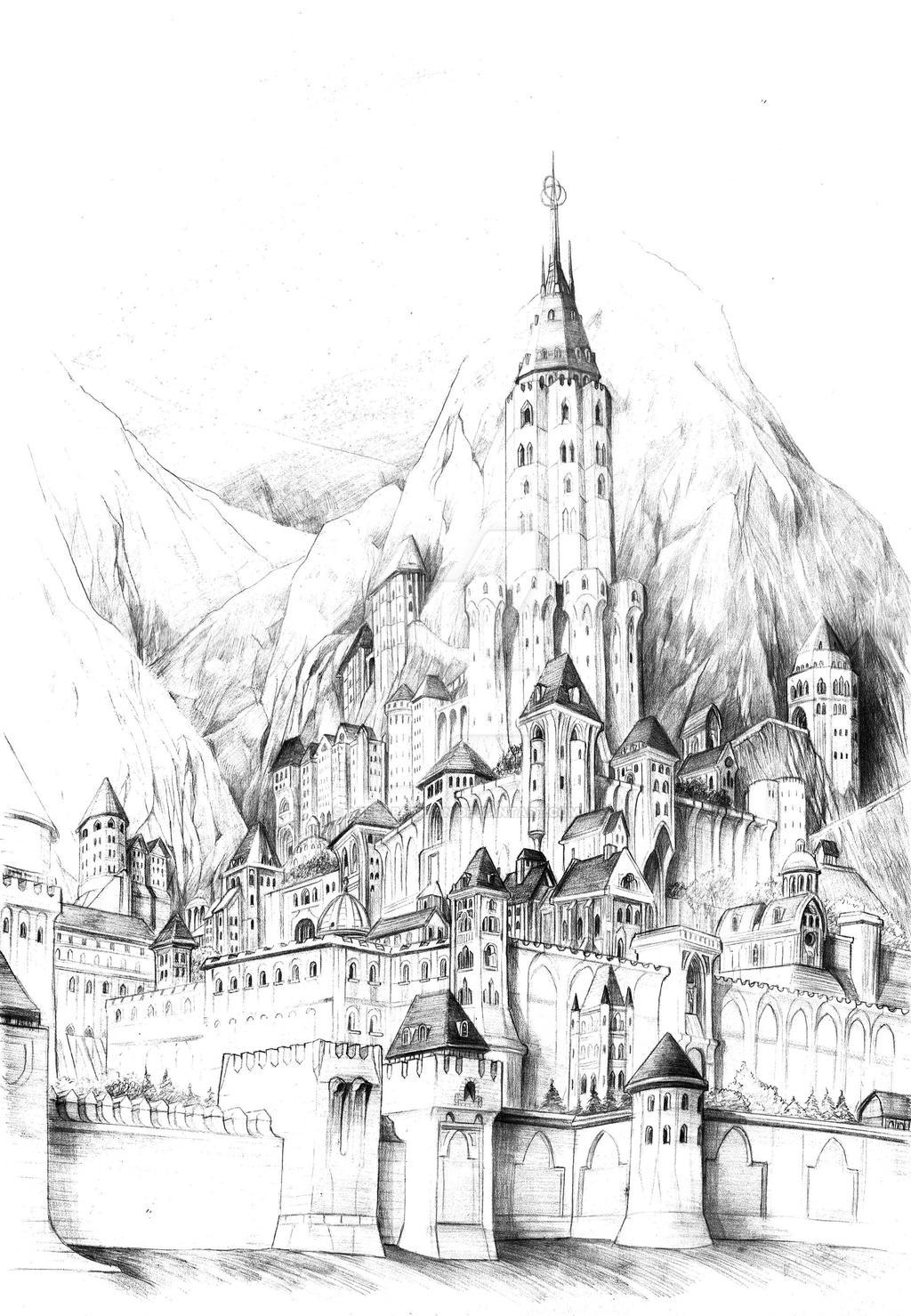 Minas Ithil by AbePapakhian
