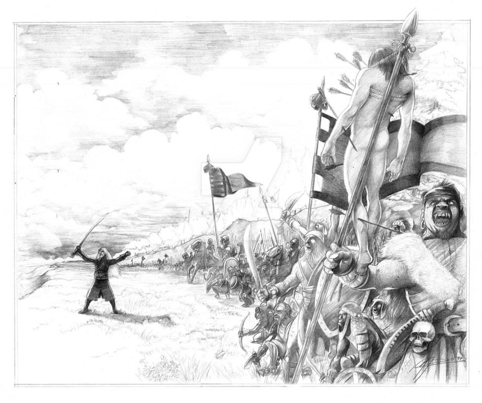 The Death of Celebrimbor by AbePapakhian on DeviantArt