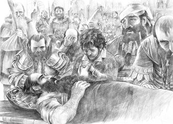 The Passing of Thorin Oakenshield by AbePapakhian