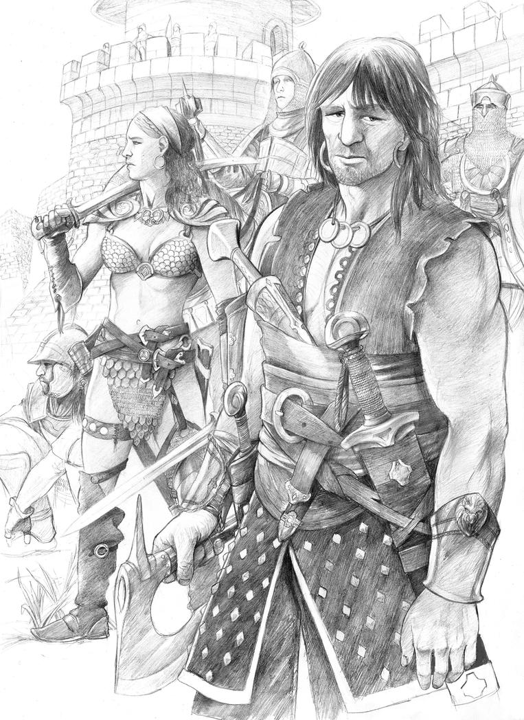Sonja And Conan by AbePapakhian