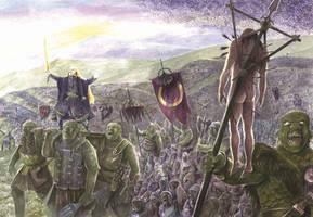 The Death of Celebrimbor by AbePapakhian