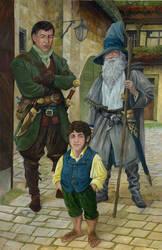 A Ranger,A Wizard, A Burglar by AbePapakhian