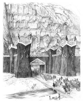 Gates Of Minas Tirith
