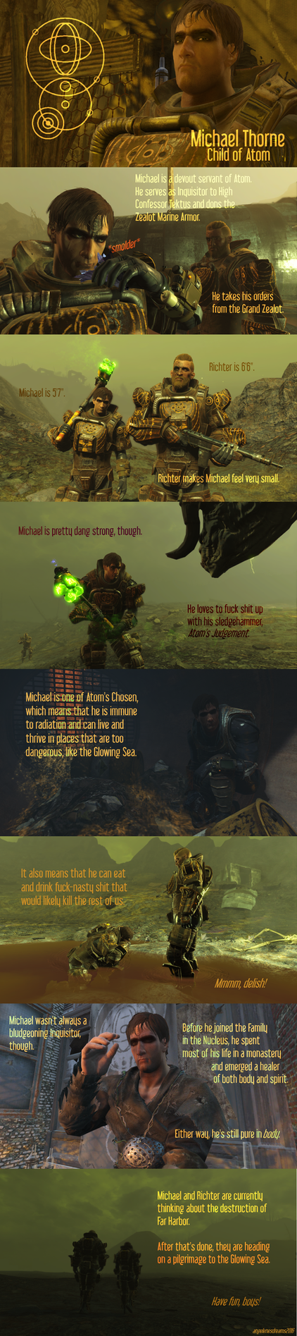 Fallout 4 OC: Inquisitor Michael Thorne by angelenesdreams
