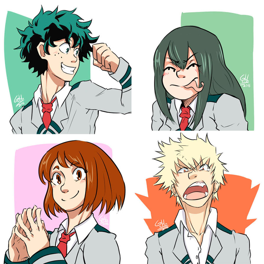 My BNHA Favorite characters (Set1) by G-Cho