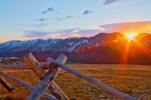 Sunset Over The Rockies by Grouper