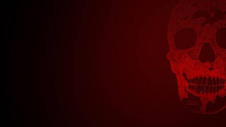 wallpaper in dark red colors. by kengooru