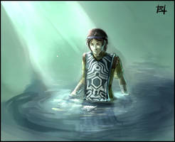 Shadow of the Colossus - Pool. by peacefulchaos