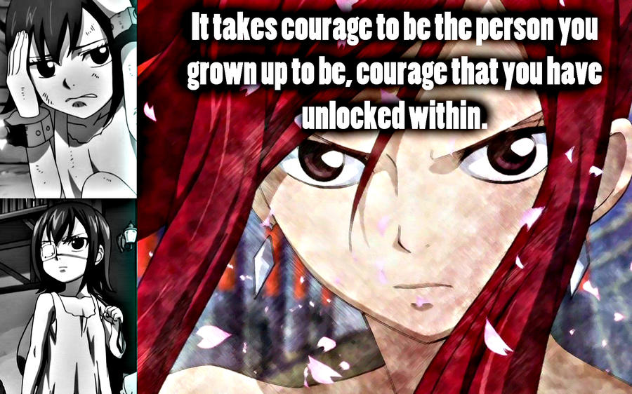 Erza Scarlet Mad Erza Courage by Xela-scarlet