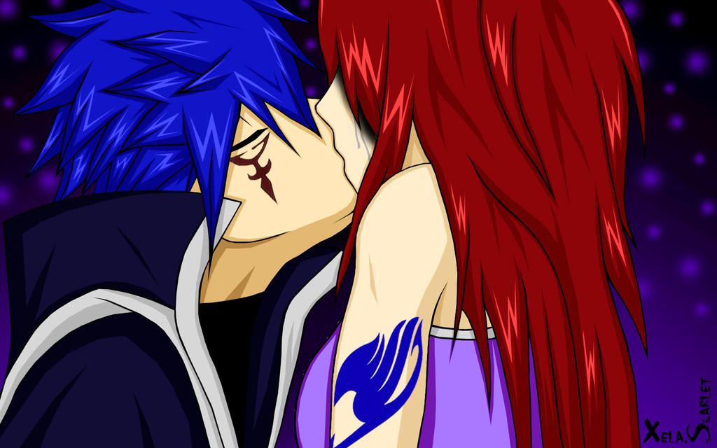 Erza and Jellal, Love and Tears. by Xela-scarlet on DeviantArt