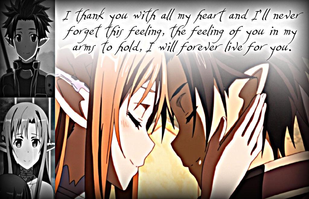 Kirito and Asuna, Feelings by Xela-scarlet
