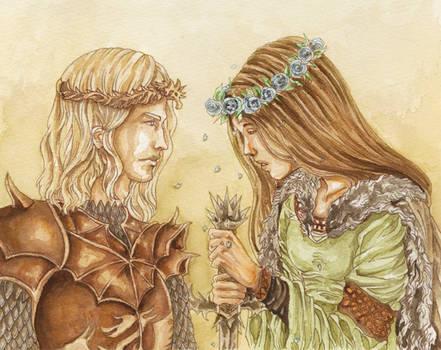 Lyanna Stark x Rhaegar Targaryen: Pale Blue Roses