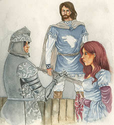 The fight over Catelyn Tully by SephyStabbity