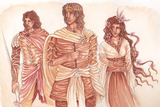 Young Martells: Oberyn, Doran and Elia