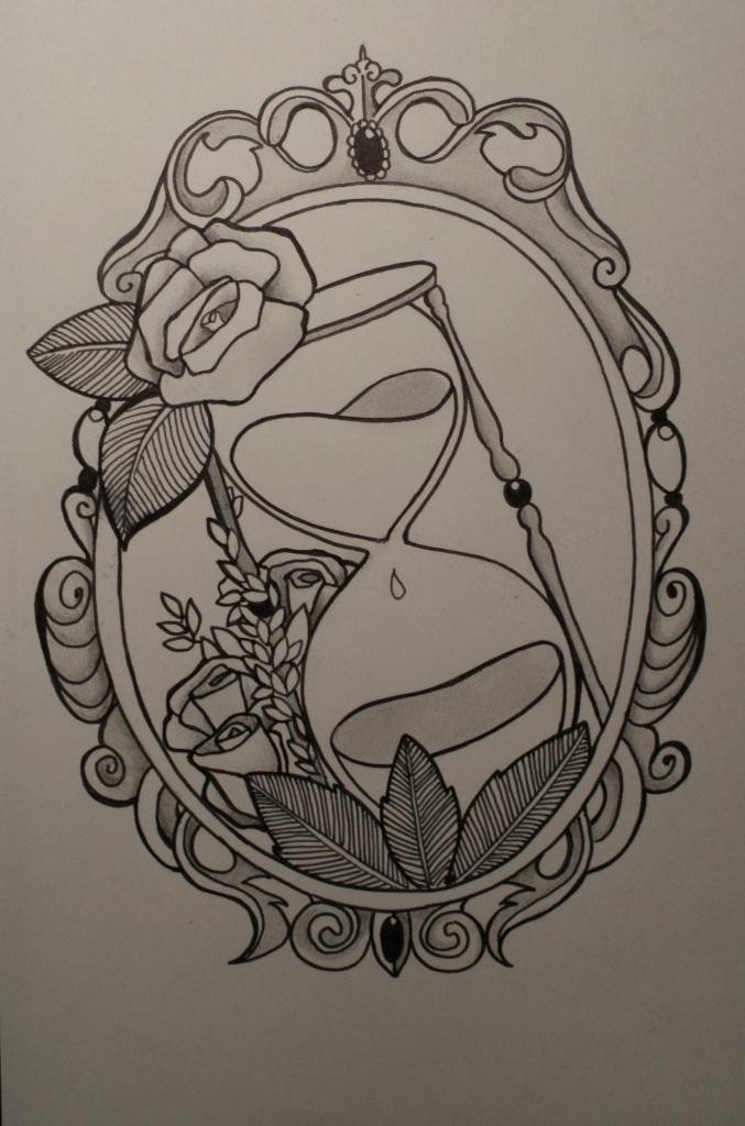 hand holding mirror tattoo. Beautiful Mirror Sand Der Zeit By SaintWolfOfEden  And Hand Holding Mirror Tattoo O