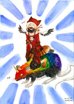 Rainbowunicornrat with Coyote