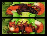 Caterpillar Fox Bookmark 1 by DrMohnfuchs